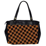 HOUNDSTOOTH2 BLACK MARBLE & RUSTED METAL Office Handbags (2 Sides)  Back