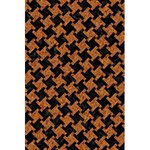 HOUNDSTOOTH2 BLACK MARBLE & RUSTED METAL 5.5  x 8.5  Notebooks Back Cover Inside