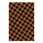 HOUNDSTOOTH2 BLACK MARBLE & RUSTED METAL Shower Curtain 48  x 72  (Small)  42.18 x64.8 Curtain