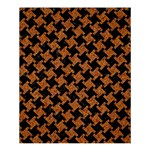 HOUNDSTOOTH2 BLACK MARBLE & RUSTED METAL Shower Curtain 60  x 72  (Medium)  54.25 x65.71 Curtain