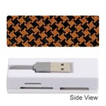 HOUNDSTOOTH2 BLACK MARBLE & RUSTED METAL Memory Card Reader (Stick)  Front