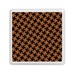 Houndstooth2 Black Marble & Rusted Metal Memory Card Reader (square)