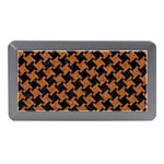 HOUNDSTOOTH2 BLACK MARBLE & RUSTED METAL Memory Card Reader (Mini) Front