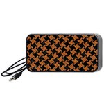 HOUNDSTOOTH2 BLACK MARBLE & RUSTED METAL Portable Speaker Front