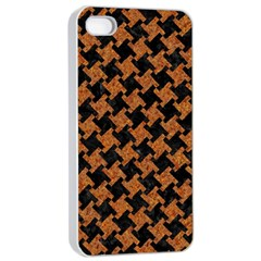 Houndstooth2 Black Marble & Rusted Metal Apple Iphone 4/4s Seamless Case (white)