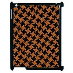 HOUNDSTOOTH2 BLACK MARBLE & RUSTED METAL Apple iPad 2 Case (Black) Front