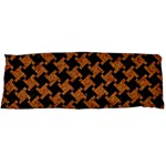 HOUNDSTOOTH2 BLACK MARBLE & RUSTED METAL Body Pillow Case Dakimakura (Two Sides) Front