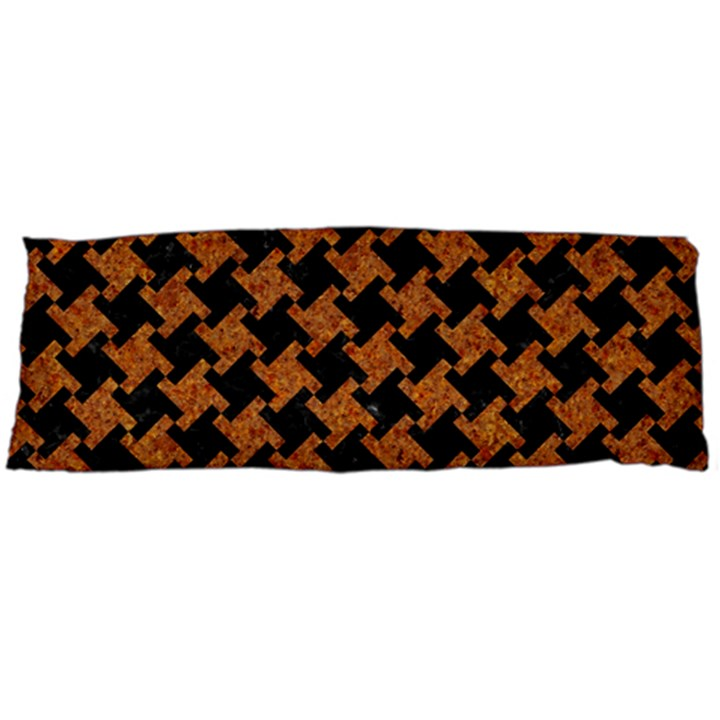 HOUNDSTOOTH2 BLACK MARBLE & RUSTED METAL Body Pillow Case Dakimakura (Two Sides)