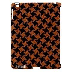 Houndstooth2 Black Marble & Rusted Metal Apple Ipad 3/4 Hardshell Case (compatible With Smart Cover)