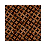 HOUNDSTOOTH2 BLACK MARBLE & RUSTED METAL Acrylic Tangram Puzzle (6  x 6 ) Front