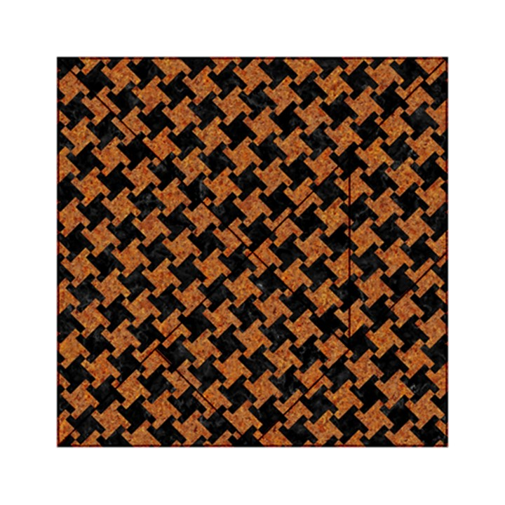 HOUNDSTOOTH2 BLACK MARBLE & RUSTED METAL Acrylic Tangram Puzzle (6  x 6 )