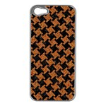 HOUNDSTOOTH2 BLACK MARBLE & RUSTED METAL Apple iPhone 5 Case (Silver) Front