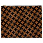 HOUNDSTOOTH2 BLACK MARBLE & RUSTED METAL Cosmetic Bag (XXXL)  Front