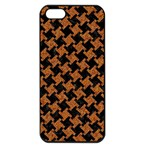 HOUNDSTOOTH2 BLACK MARBLE & RUSTED METAL Apple iPhone 5 Seamless Case (Black) Front