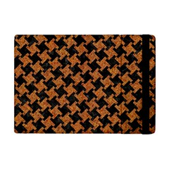 Houndstooth2 Black Marble & Rusted Metal Apple Ipad Mini Flip Case