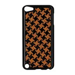 HOUNDSTOOTH2 BLACK MARBLE & RUSTED METAL Apple iPod Touch 5 Case (Black) Front