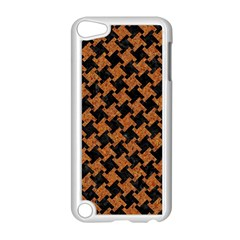 Houndstooth2 Black Marble & Rusted Metal Apple Ipod Touch 5 Case (white)
