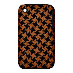 Houndstooth2 Black Marble & Rusted Metal Iphone 3s/3gs