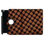 HOUNDSTOOTH2 BLACK MARBLE & RUSTED METAL Apple iPad 2 Flip 360 Case Front