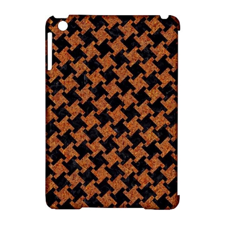 HOUNDSTOOTH2 BLACK MARBLE & RUSTED METAL Apple iPad Mini Hardshell Case (Compatible with Smart Cover)