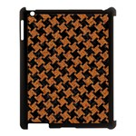 HOUNDSTOOTH2 BLACK MARBLE & RUSTED METAL Apple iPad 3/4 Case (Black) Front