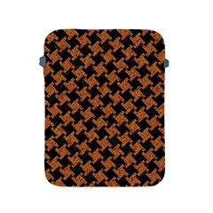 Houndstooth2 Black Marble & Rusted Metal Apple Ipad 2/3/4 Protective Soft Cases