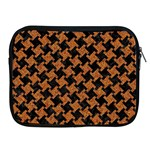 HOUNDSTOOTH2 BLACK MARBLE & RUSTED METAL Apple iPad 2/3/4 Zipper Cases Front
