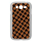 HOUNDSTOOTH2 BLACK MARBLE & RUSTED METAL Samsung Galaxy Grand DUOS I9082 Case (White) Front
