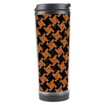 HOUNDSTOOTH2 BLACK MARBLE & RUSTED METAL Travel Tumbler Left