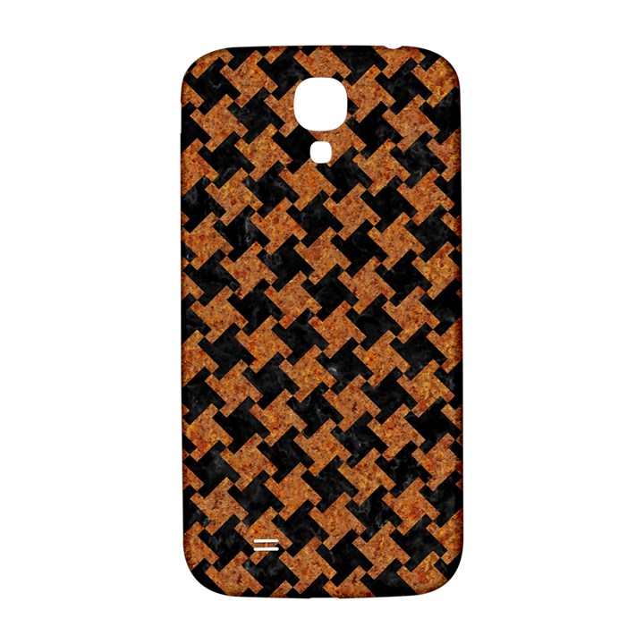 HOUNDSTOOTH2 BLACK MARBLE & RUSTED METAL Samsung Galaxy S4 I9500/I9505  Hardshell Back Case