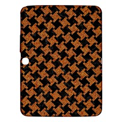 Houndstooth2 Black Marble & Rusted Metal Samsung Galaxy Tab 3 (10 1 ) P5200 Hardshell Case