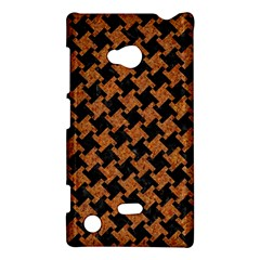Houndstooth2 Black Marble & Rusted Metal Nokia Lumia 720
