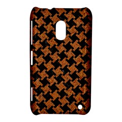 Houndstooth2 Black Marble & Rusted Metal Nokia Lumia 620