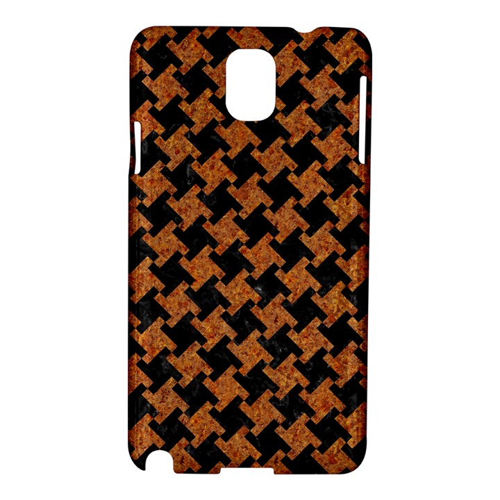 HOUNDSTOOTH2 BLACK MARBLE & RUSTED METAL Samsung Galaxy Note 3 N9005 Hardshell Case