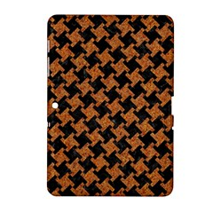 Houndstooth2 Black Marble & Rusted Metal Samsung Galaxy Tab 2 (10 1 ) P5100 Hardshell Case