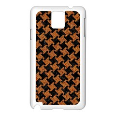 Houndstooth2 Black Marble & Rusted Metal Samsung Galaxy Note 3 N9005 Case (white)