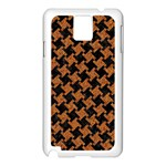 HOUNDSTOOTH2 BLACK MARBLE & RUSTED METAL Samsung Galaxy Note 3 N9005 Case (White) Front