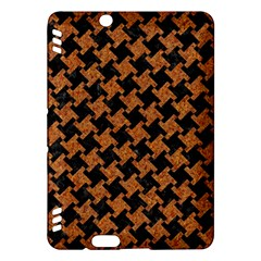 Houndstooth2 Black Marble & Rusted Metal Kindle Fire Hdx Hardshell Case