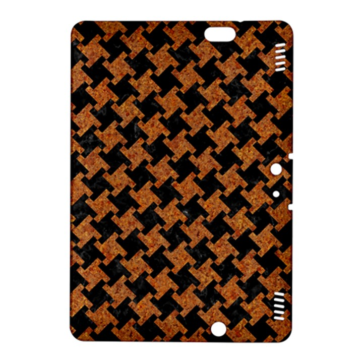 HOUNDSTOOTH2 BLACK MARBLE & RUSTED METAL Kindle Fire HDX 8.9  Hardshell Case
