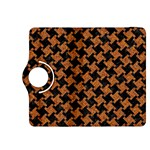 HOUNDSTOOTH2 BLACK MARBLE & RUSTED METAL Kindle Fire HDX 8.9  Flip 360 Case Front