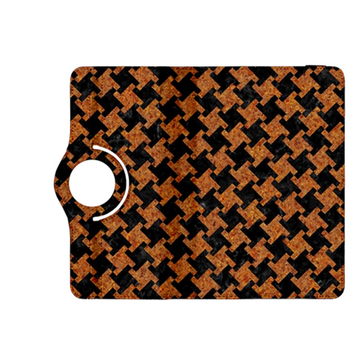HOUNDSTOOTH2 BLACK MARBLE & RUSTED METAL Kindle Fire HDX 8.9  Flip 360 Case