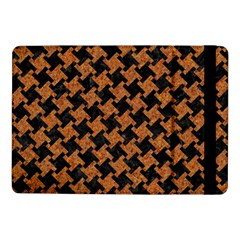 Houndstooth2 Black Marble & Rusted Metal Samsung Galaxy Tab Pro 10 1  Flip Case