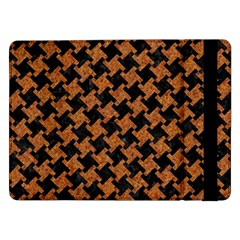 Houndstooth2 Black Marble & Rusted Metal Samsung Galaxy Tab Pro 12 2  Flip Case