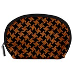 HOUNDSTOOTH2 BLACK MARBLE & RUSTED METAL Accessory Pouches (Large)  Front