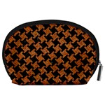 HOUNDSTOOTH2 BLACK MARBLE & RUSTED METAL Accessory Pouches (Large)  Back