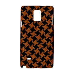 Houndstooth2 Black Marble & Rusted Metal Samsung Galaxy Note 4 Hardshell Case