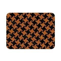 Houndstooth2 Black Marble & Rusted Metal Double Sided Flano Blanket (mini)