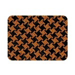HOUNDSTOOTH2 BLACK MARBLE & RUSTED METAL Double Sided Flano Blanket (Mini)  35 x27 Blanket Front