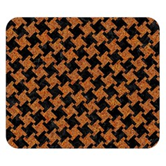 Houndstooth2 Black Marble & Rusted Metal Double Sided Flano Blanket (small)