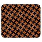 HOUNDSTOOTH2 BLACK MARBLE & RUSTED METAL Double Sided Flano Blanket (Small)  50 x40 Blanket Front